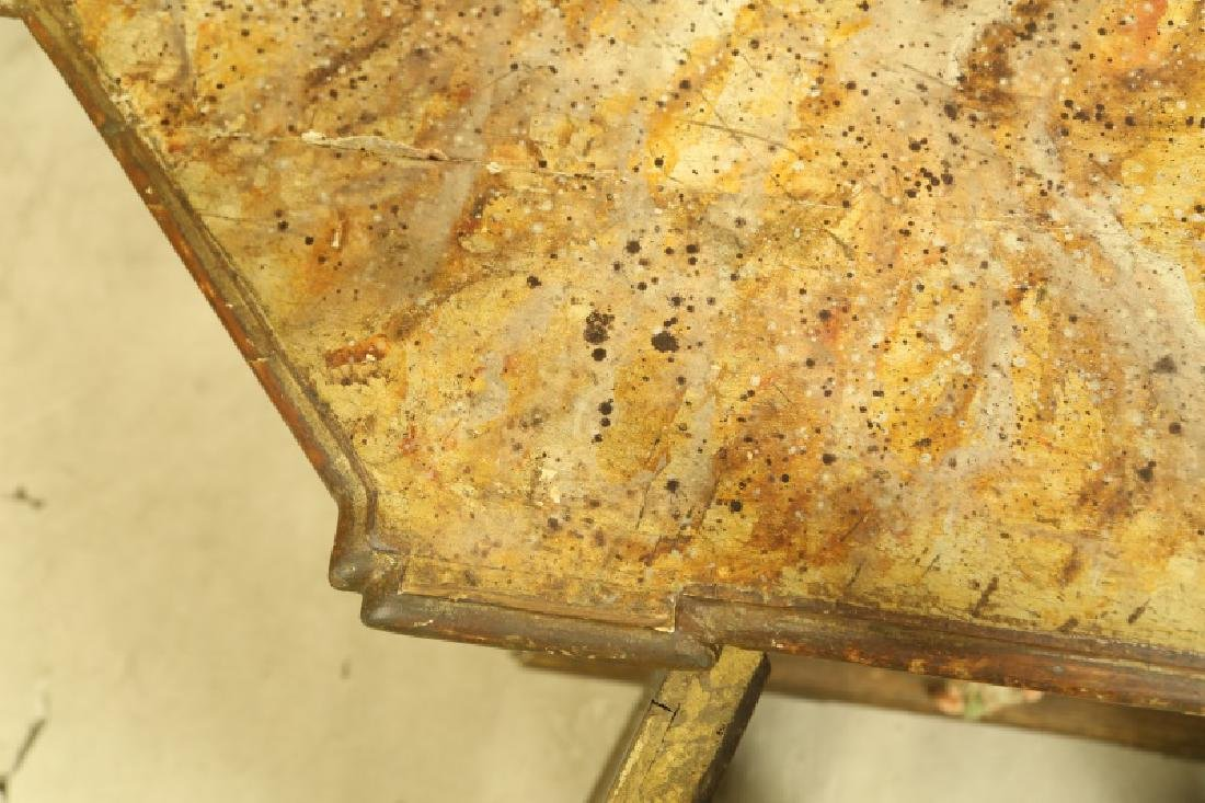 ANTIQUE ITALIAN PAINTED FAUX MARBLE TOP CABINET - 3