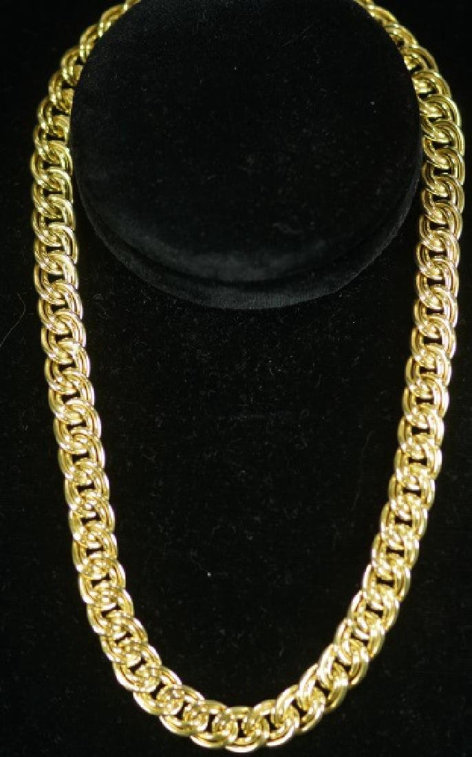 """14KT UNOAERRE-ITALY"" YELLOW GOLD NECKLACE"