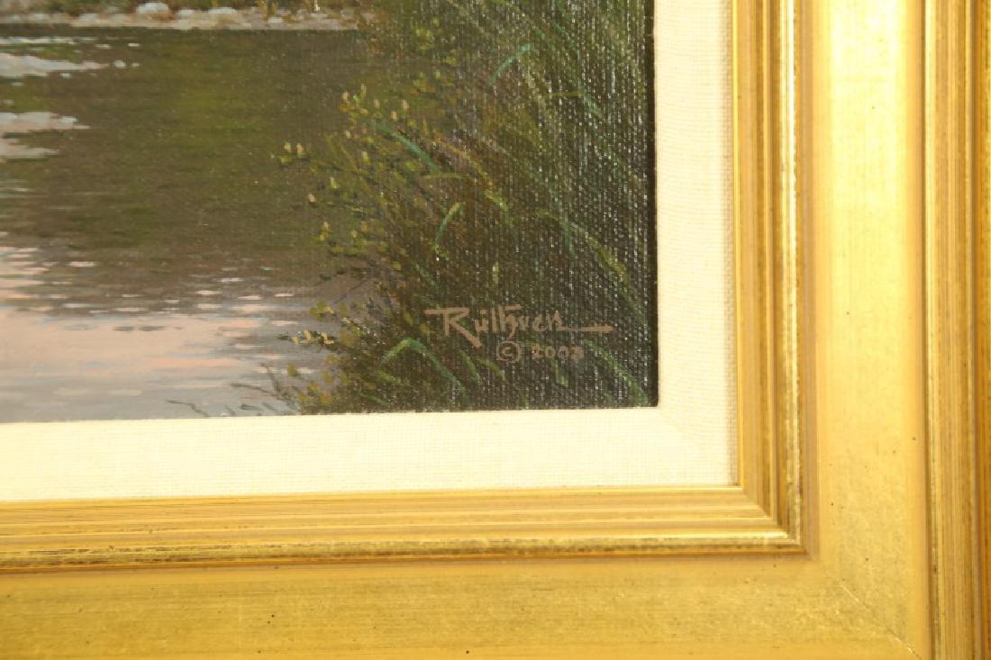 "JERRY RUTHVEN ""SABINAL SHADOWS"" OIL ON CANVAS - 2"
