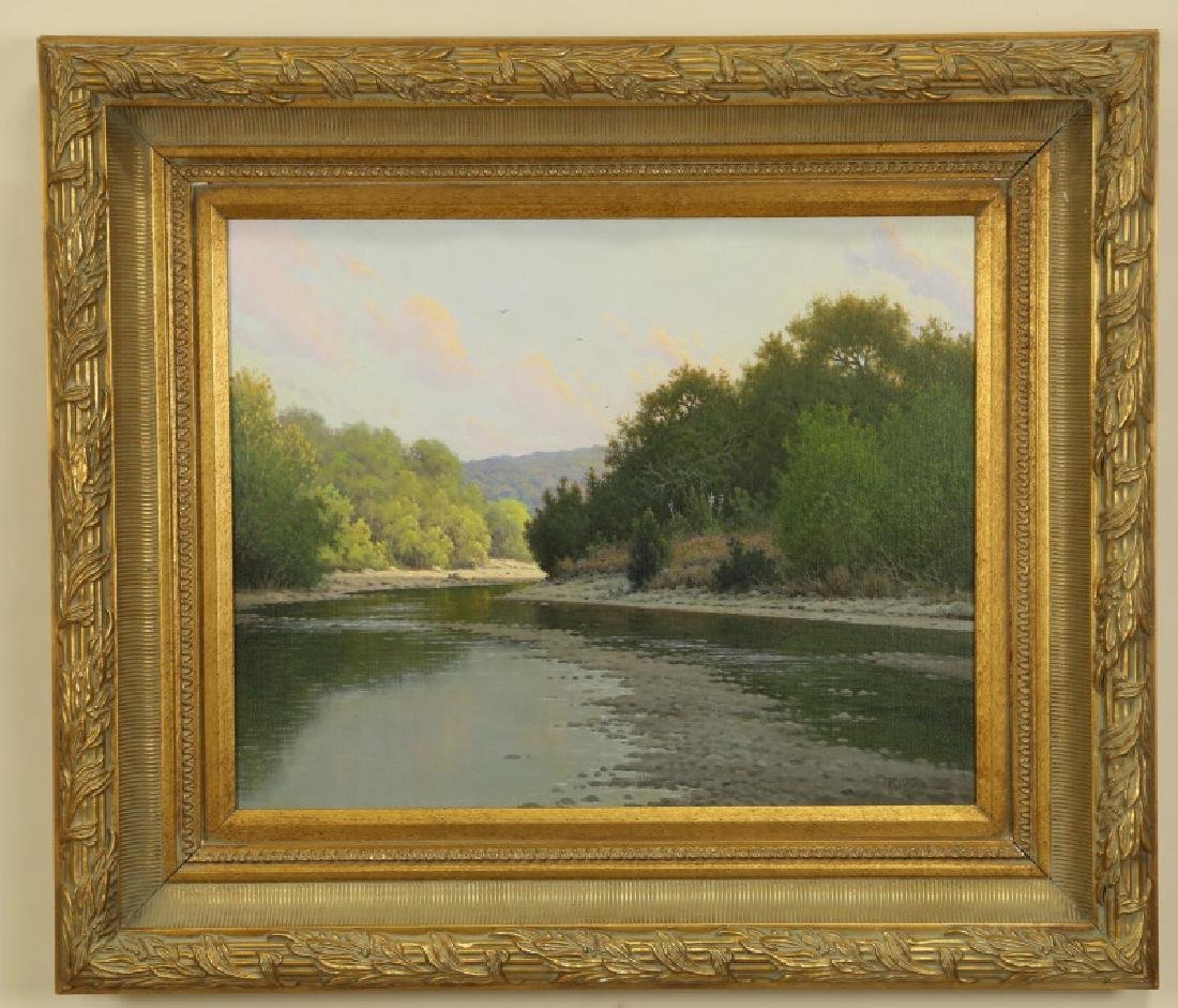 """JERRY RUTHVEN """"BEND ON THE SAN GABRIEL"""" OIL/CANVAS"""