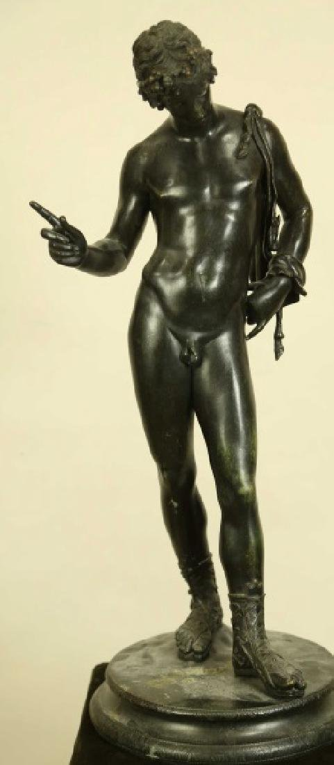 "19th CENTURY ""NARCISSUS"" BRONZE SCULPTURE"