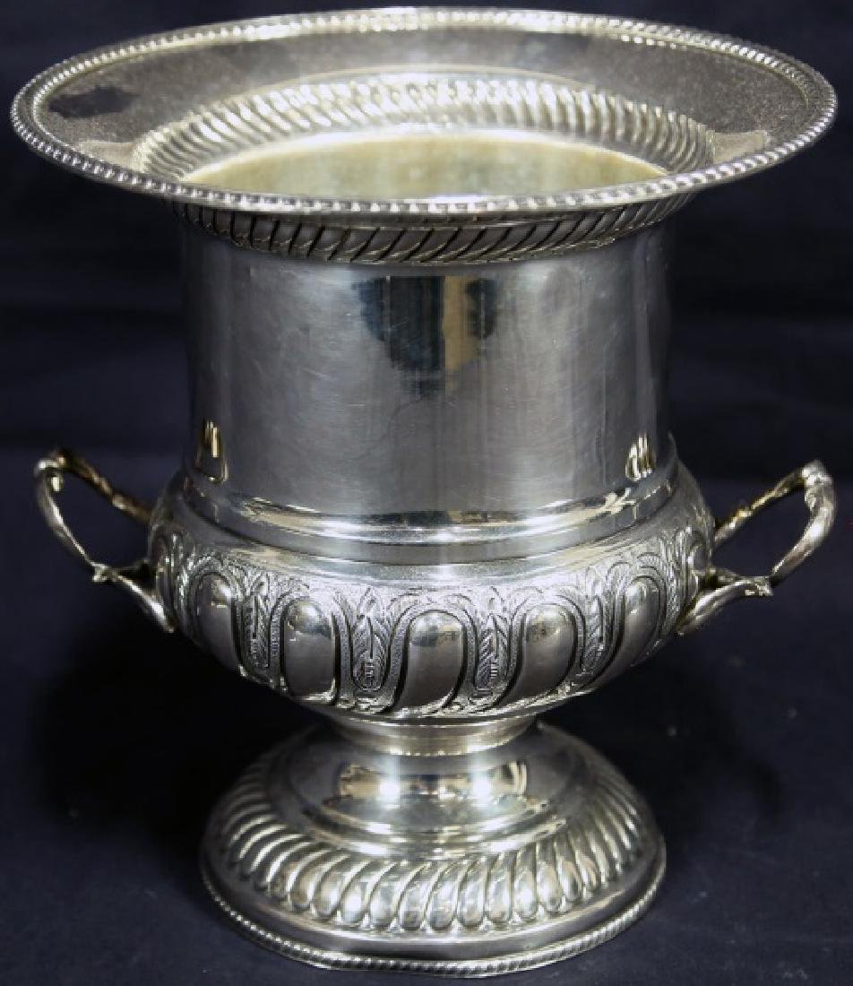 CIRCA 1930's VINTAGE ENGLISH STERLING CHAMPAGNE BUCKET
