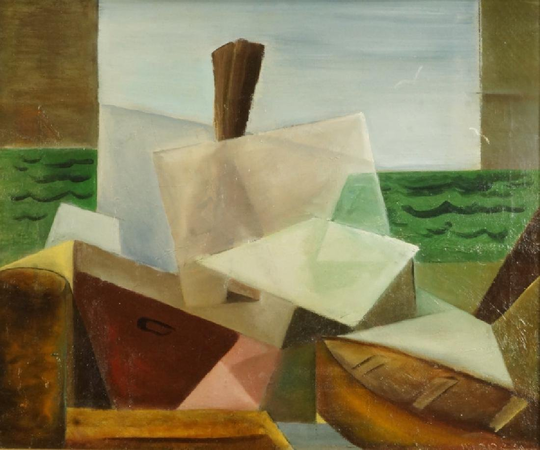 MORROW ABSTRACT OIL ON CANVAS PAINTING
