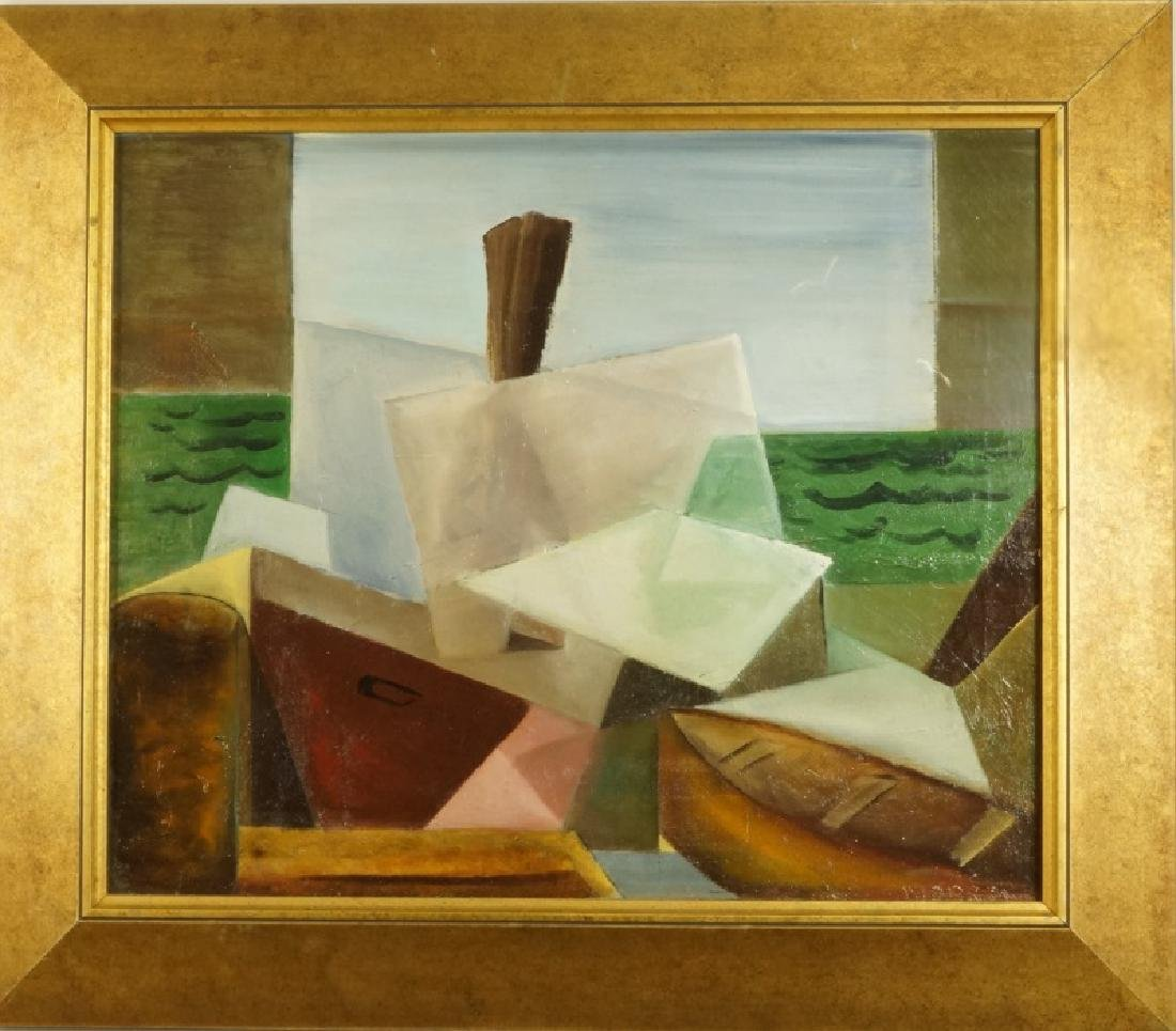 MORROW ABSTRACT OIL ON CANVAS PAINTING - 2