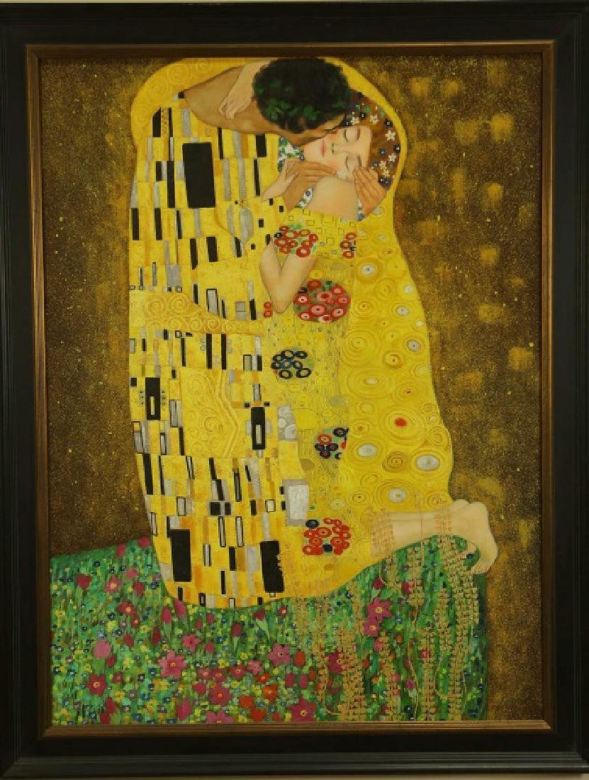 "IN THE STYLE OF GUSTAV KLINT  ""THE KISS"" ACRYLIC ON CAN - 2"