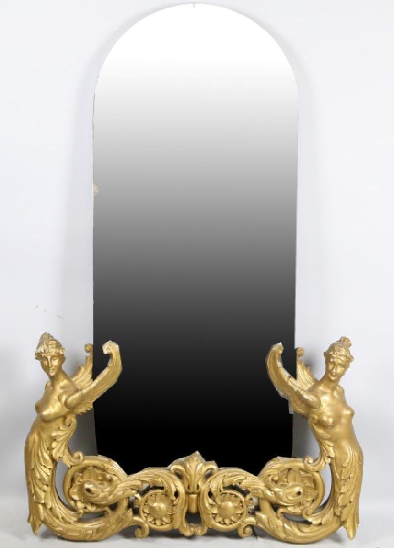 PERIOD FRENCH ART DECO CARVED & GILT FRAMED MIRROR