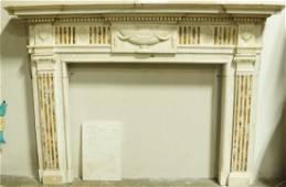 CIRCA 1780's ADAM'S TASTE MARBLE FIREPLACE SURROUND