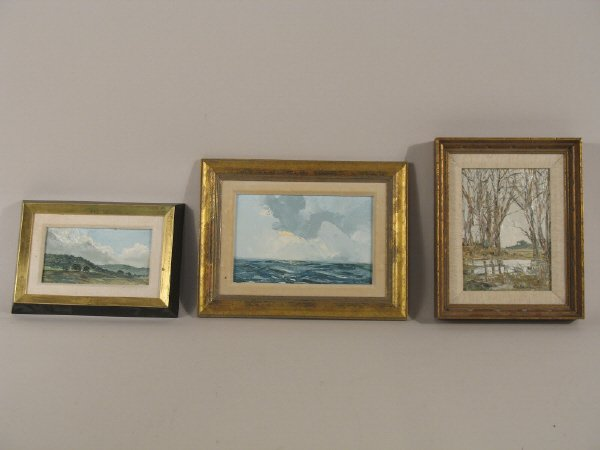 5: Set of 3 oil on board paintings