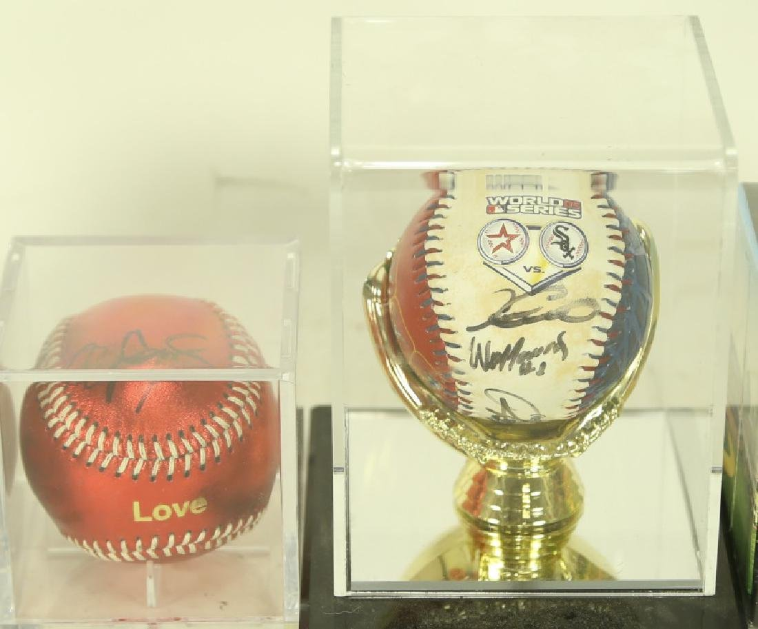 TWO HOUSTON ASTROS AUTOGRAPHED MEMORABILIA  BASEBALLS