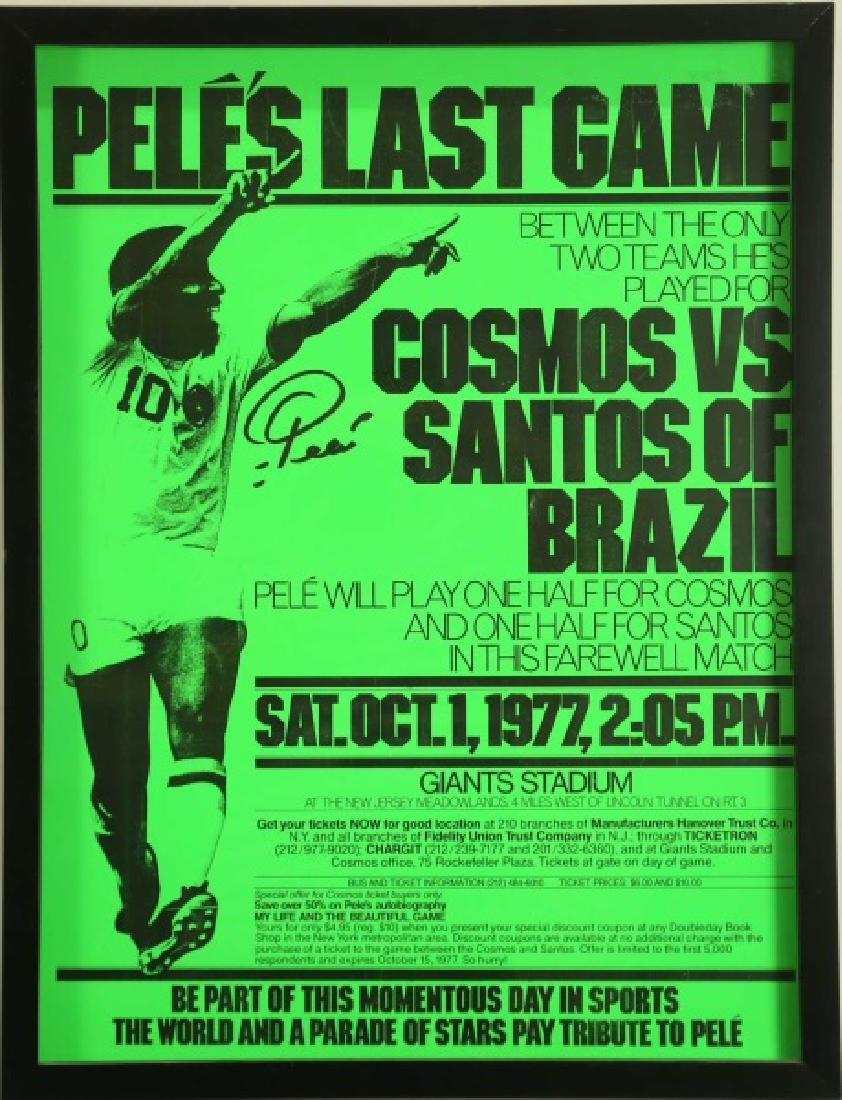 """PELES LAST GAME"" FRAMED POSTER"