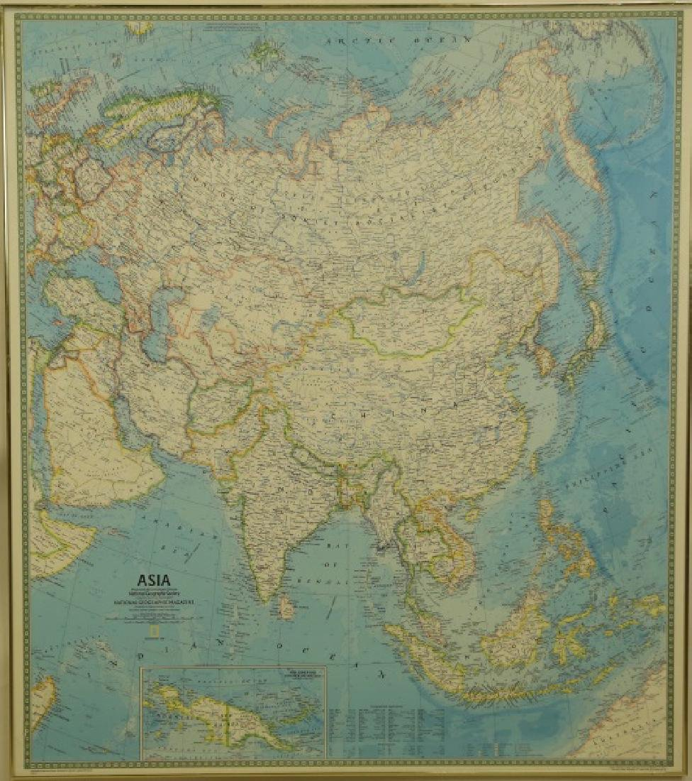 NATIONAL GEOGRAPHIC MAP OF ASIA