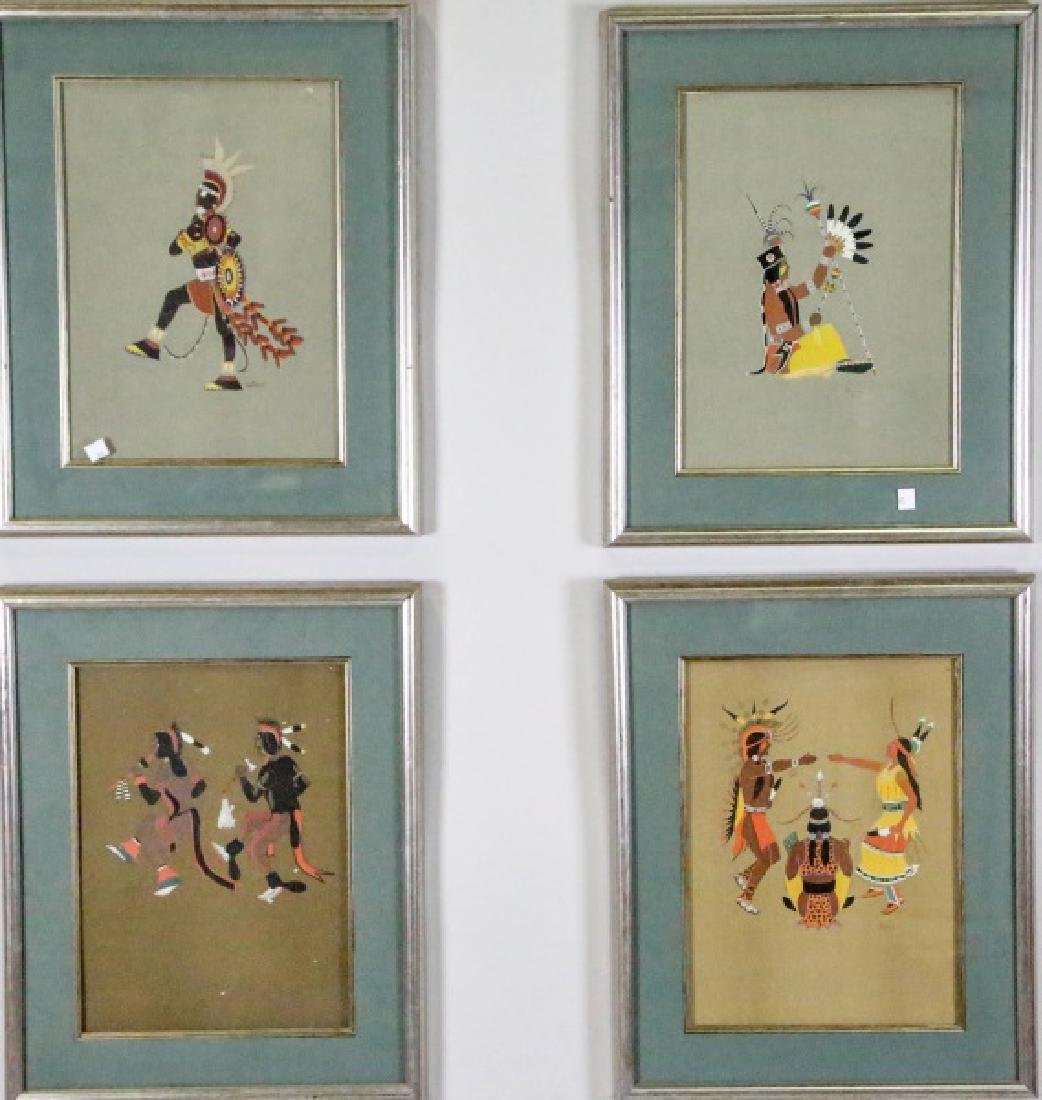 LOT OF FOUR NATIVE AMERICAN OFFSET LITHOGRAPHS