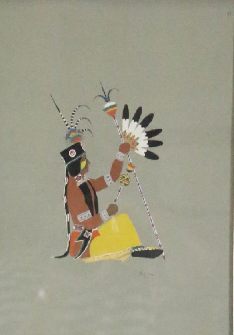 LOT OF FOUR NATIVE AMERICAN OFFSET LITHOGRAPHS - 2