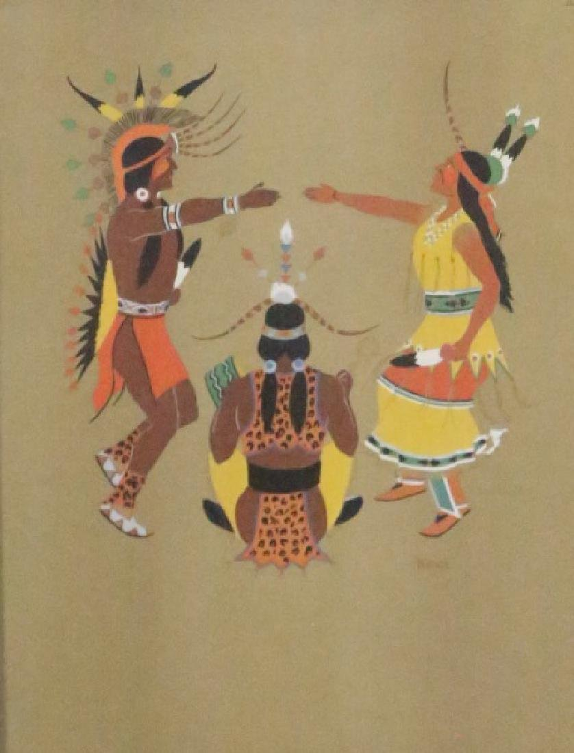 LOT OF FOUR NATIVE AMERICAN OFFSET LITHOGRAPHS - 4