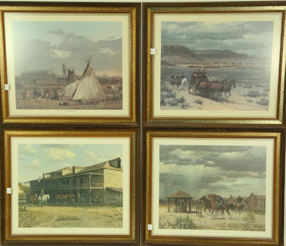 SET OF FOUR MELVIN C. WARREN PRINT