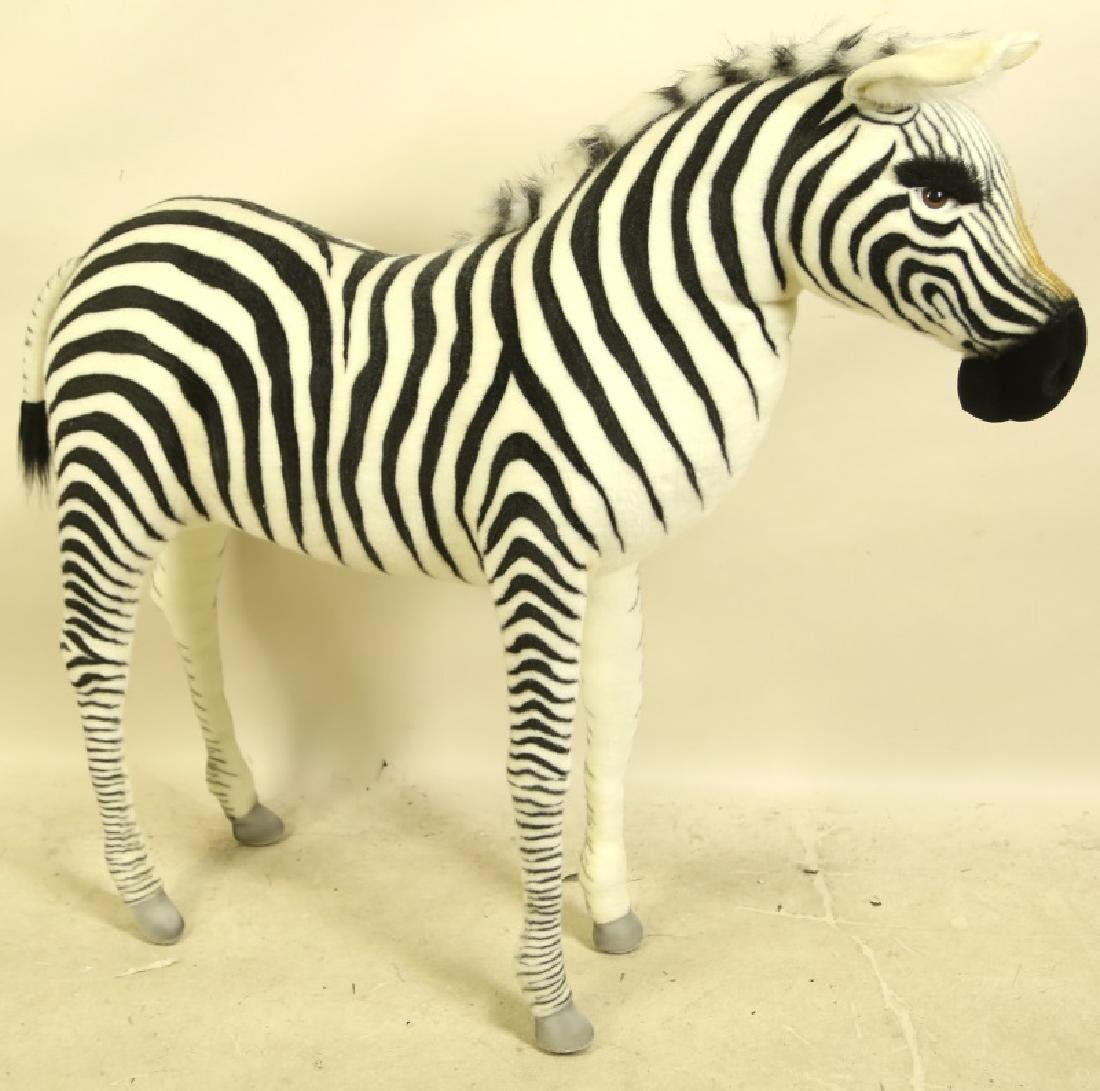 HANSA TOY INTERNATIONAL LIFE SIZE PLUSH ZEBRA