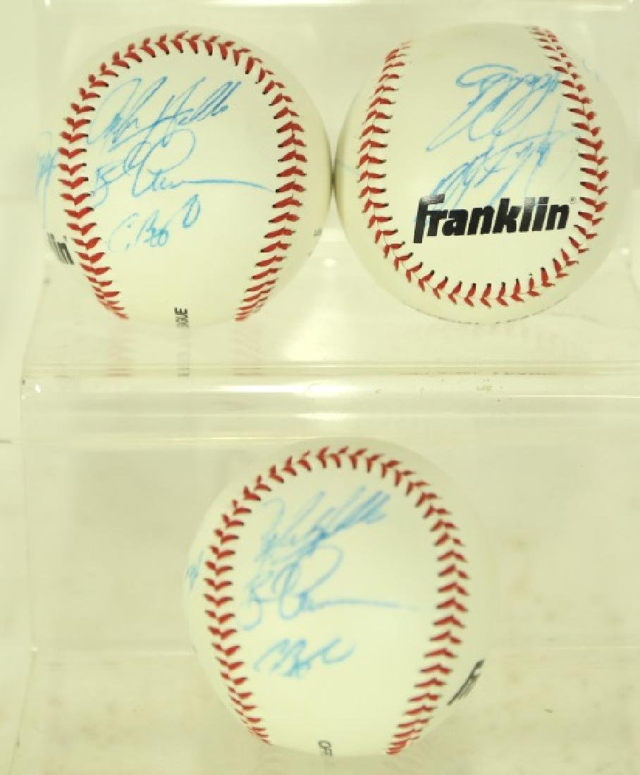 THREE AUTOGRAPHED BASEBALLS
