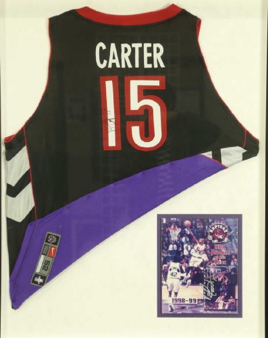 SIGNED VINCE CARTER RAPTOR JERSEY