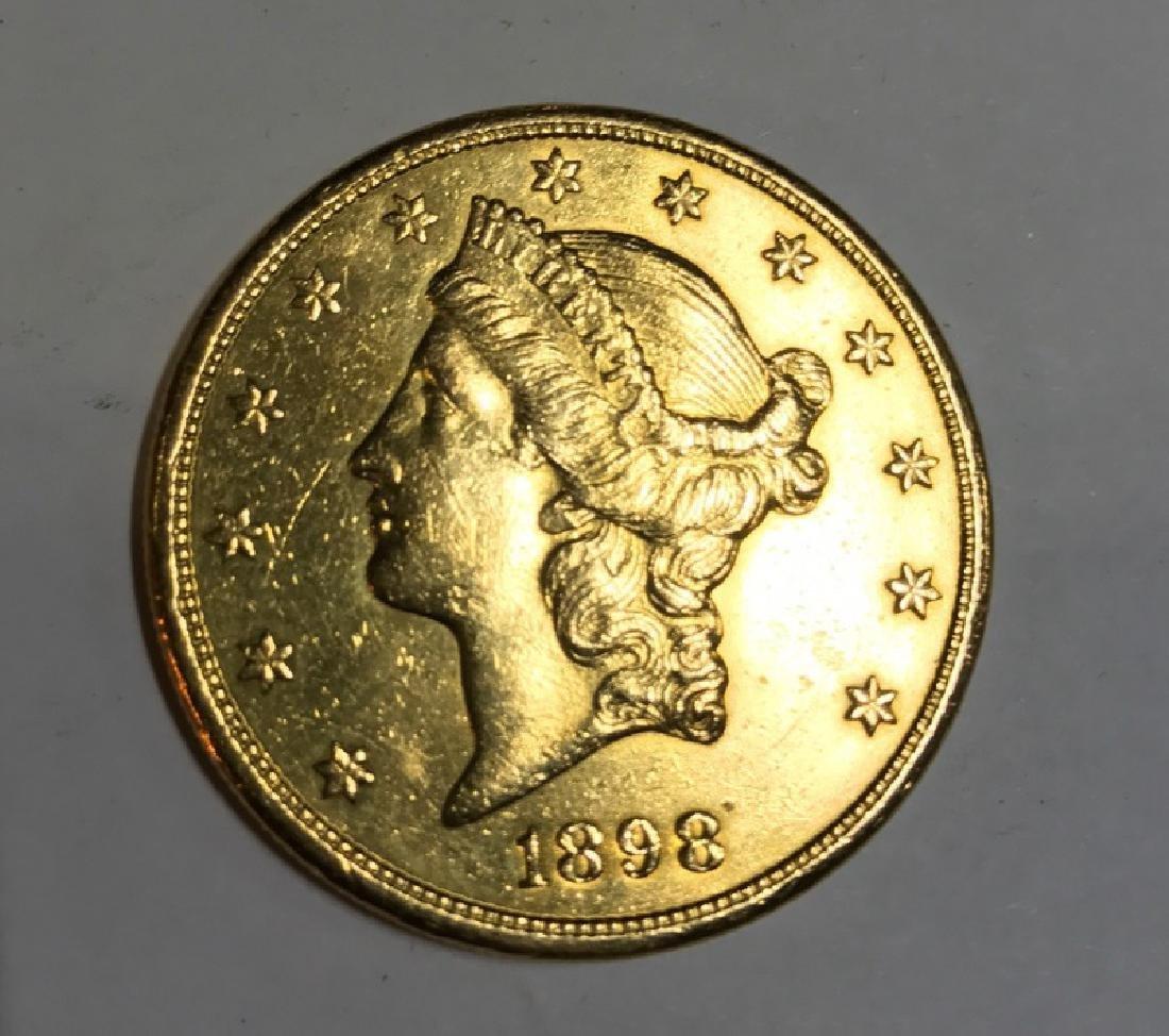 $20 1898 ST. GAUDENS U.S. GOLD COIN
