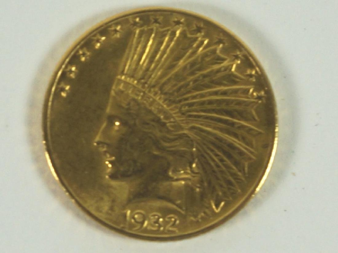$10 1932 INDIAN HEAD GOLD COIN