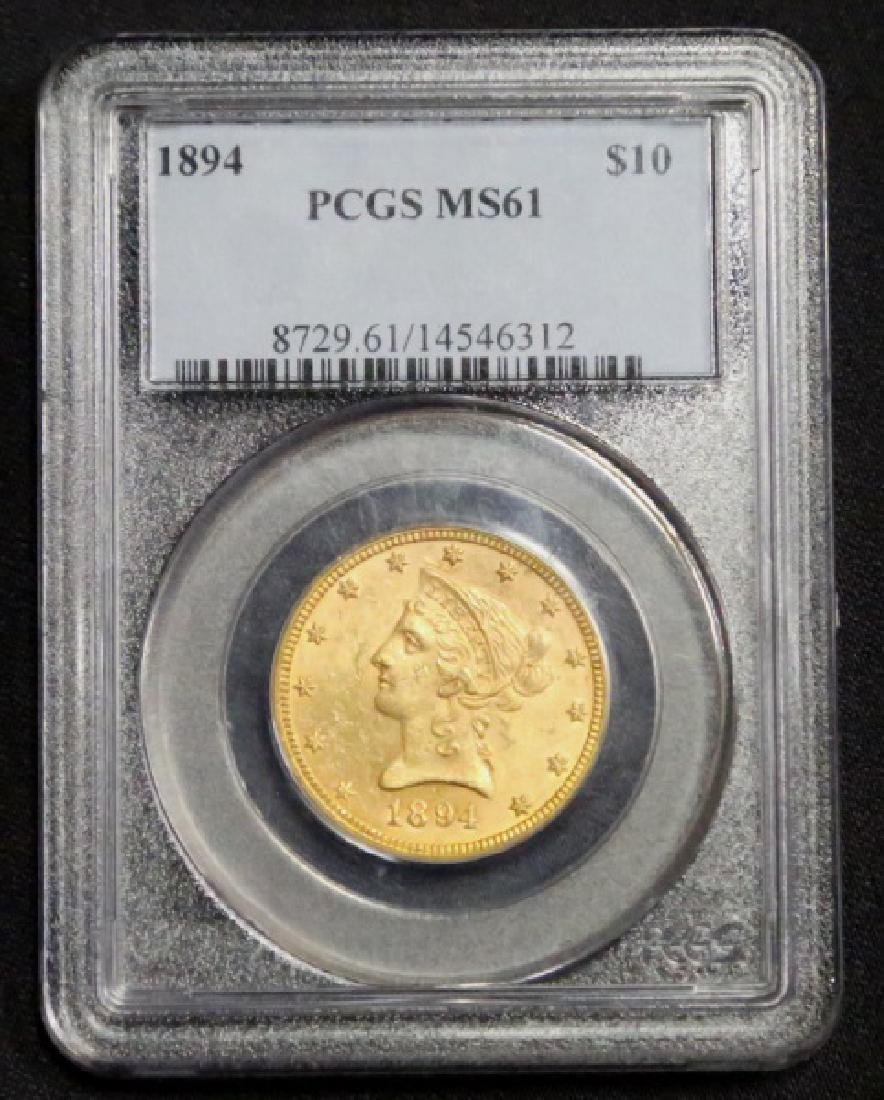$10 LIBERTY U.S. GOLD COIN (1966-1907)
