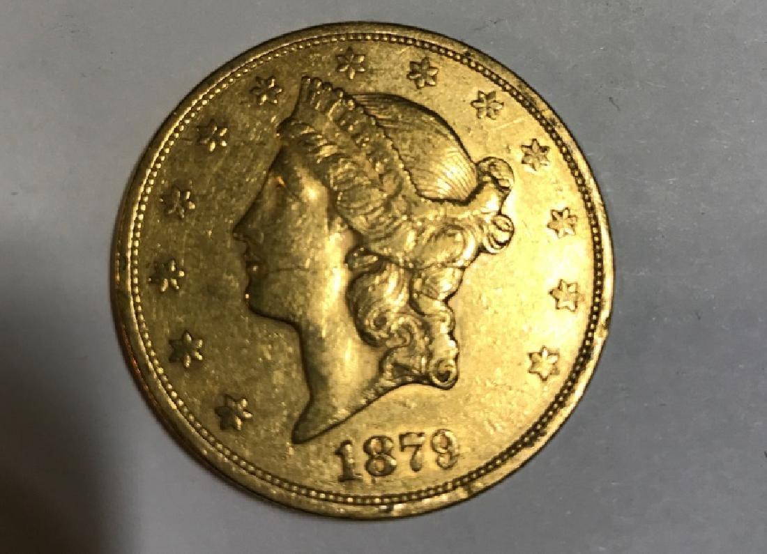$20 1879 ST. GAUDENS U.S. GOLD COIN