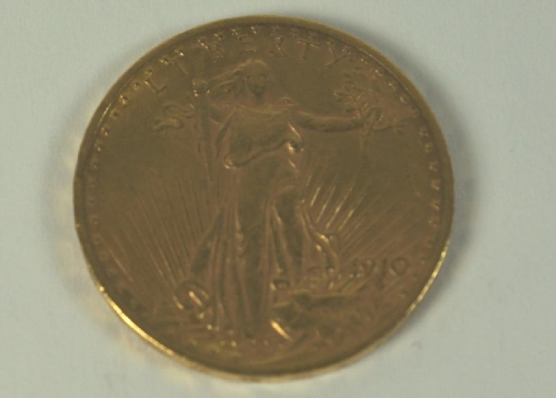 $20 1910 LIBERTY U.S. GOLD COIN