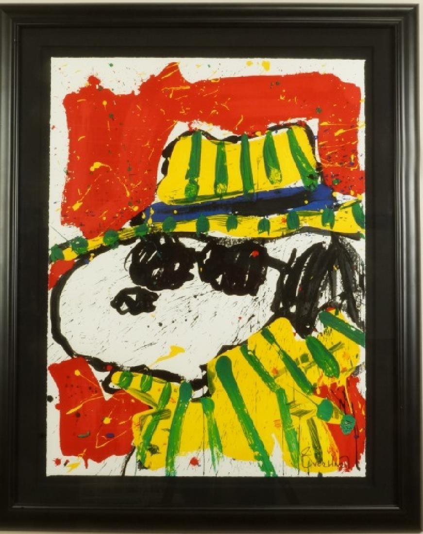 "TOM EVERHART ""THE HAT MAKES THE DUDE"" SIGNED LITHOGRAPH"