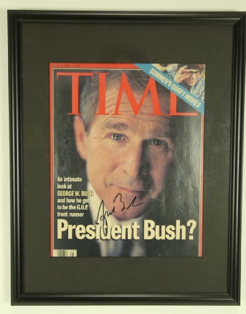 George W Bush Jr Autographed Time Magazine Cover