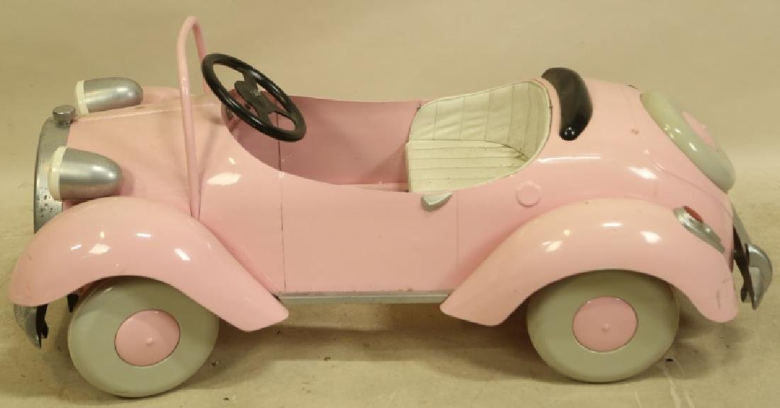 ANTIQUE PINK PEDAL CAR