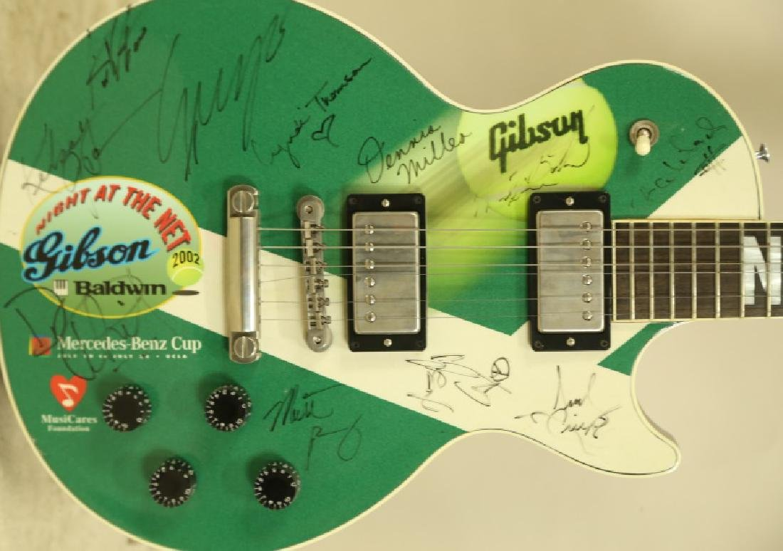 "SIGNED GIBSON GUITAR FROM ""2002 NIGHT AT THE NET"". - 2"