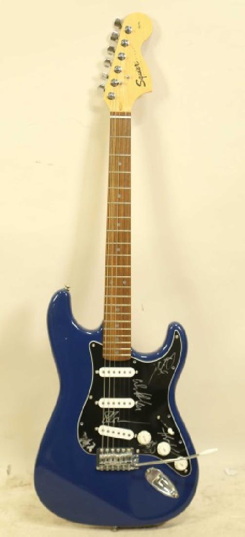 AUTOGRAPHED SQUIER ELECTRIC GUITAR