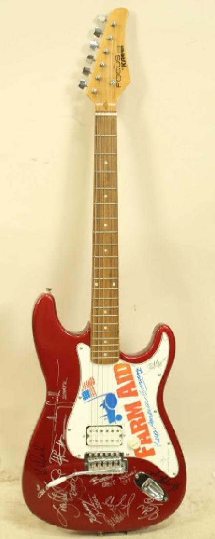 AUTOGRAPHED FARM AID ELECTRIC GUITAR