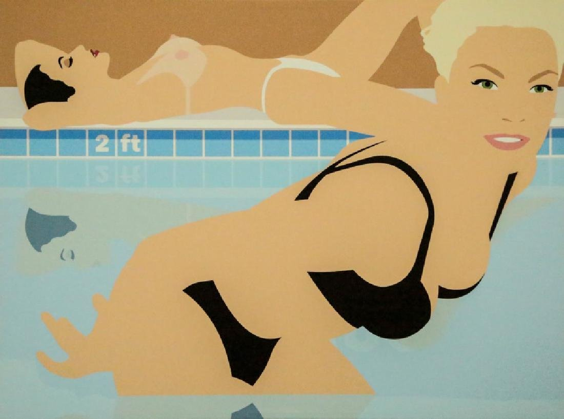 SWIMMERS GICLEE PAINTING, 2006