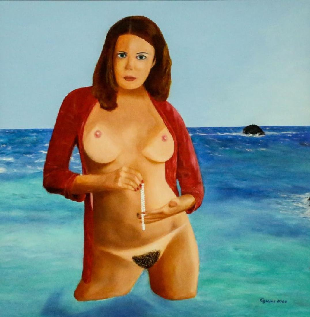 "EGRANI ""NUDE WITH PEARLS"" OIL ON PANEL, 2004"