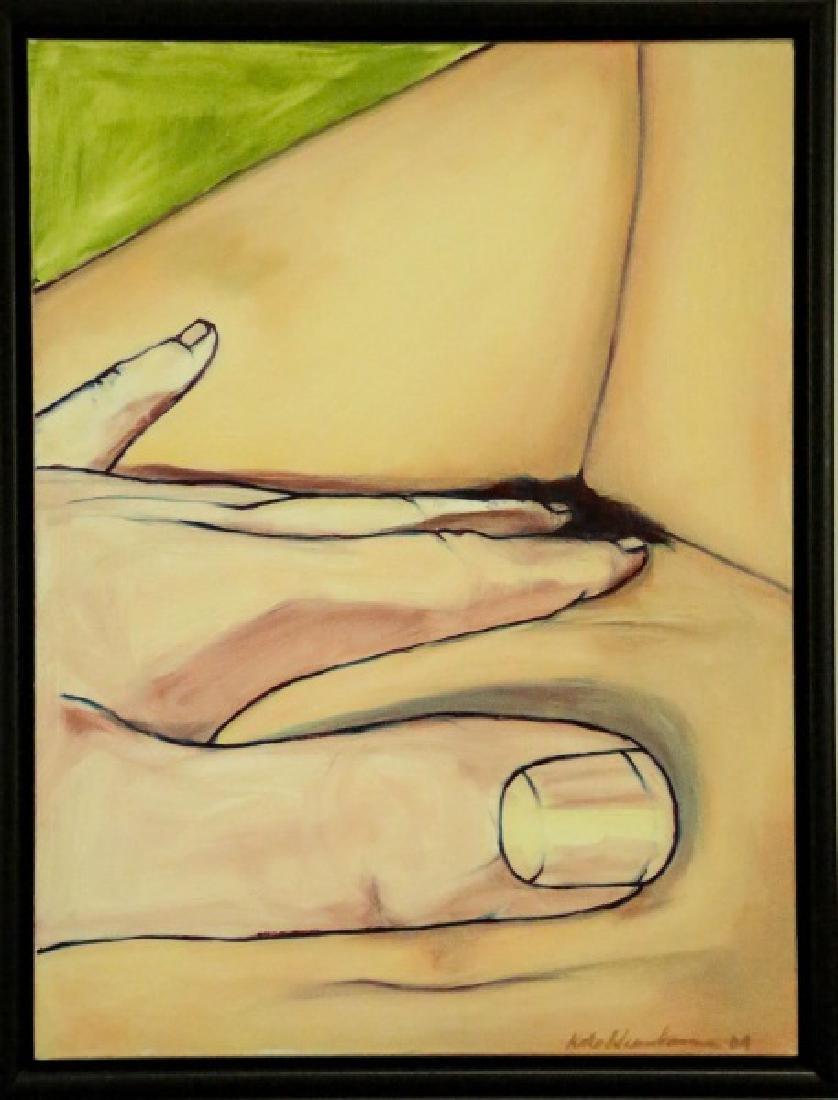 "KATE WESSELMAN ""TORSO"" ACRYLIC ON CANVAS, 2004"