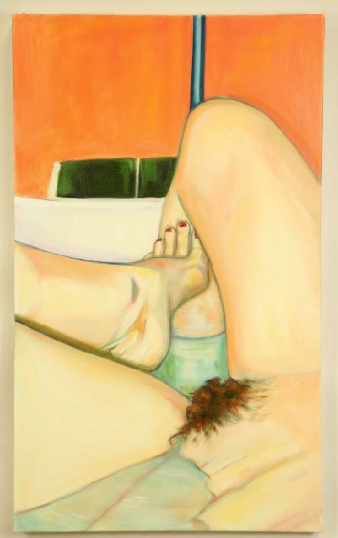"KATE WESSELMANN ""MOLDY TUB"" 2005 OIL ON CANVAS"