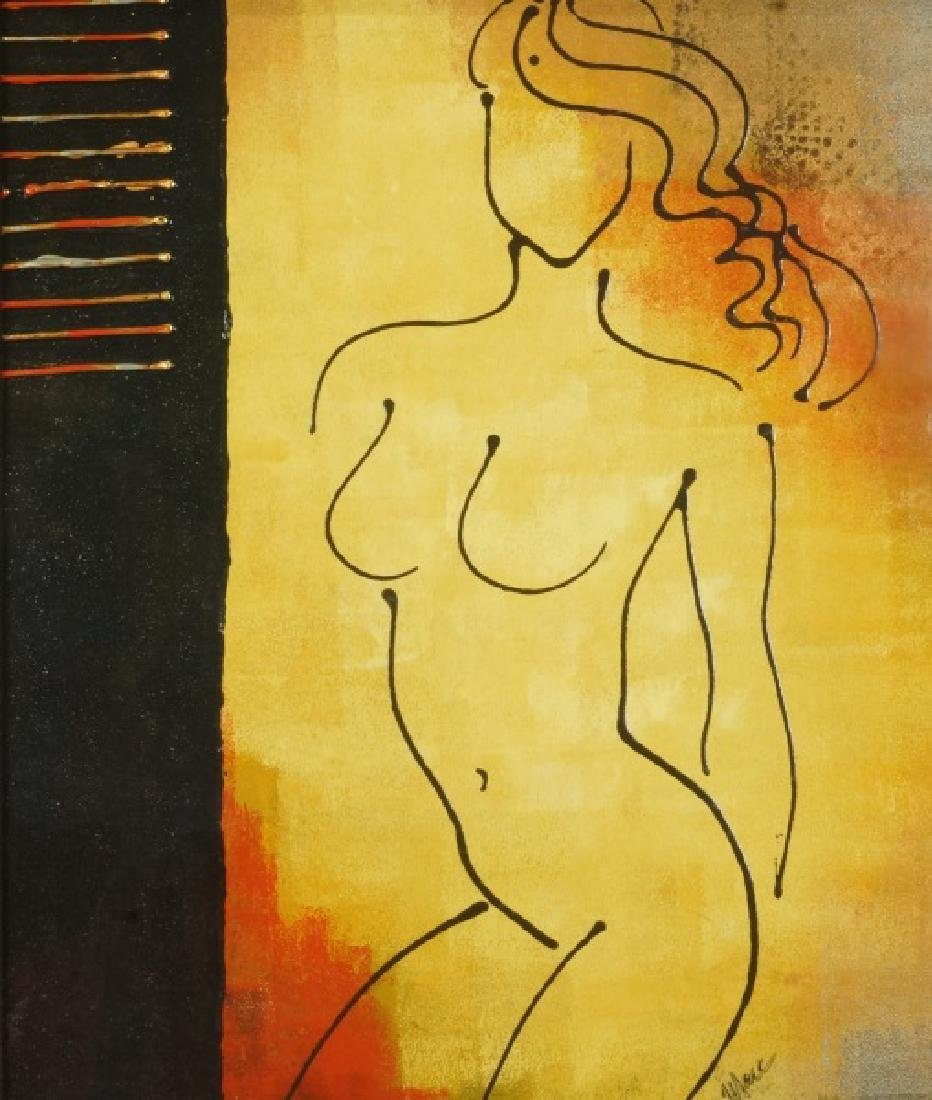 ABSTRACT FEMALE NUDE