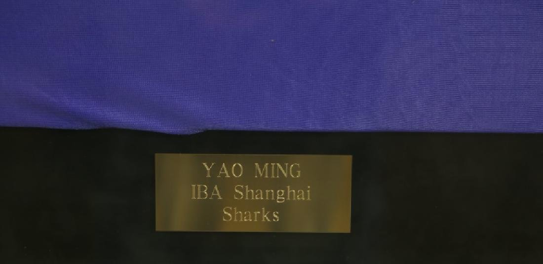 SIGNED FRAMED YAO MING #15 SHANGHAI SHARKS JERSEY - 2