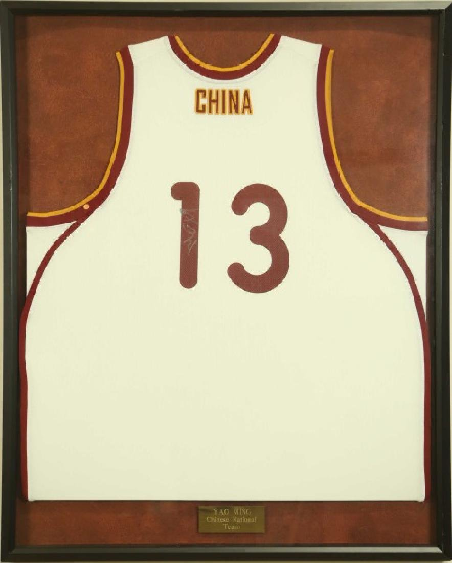 SIGNED YAO MING CHINESE NATIONAL TEAM JERSEY