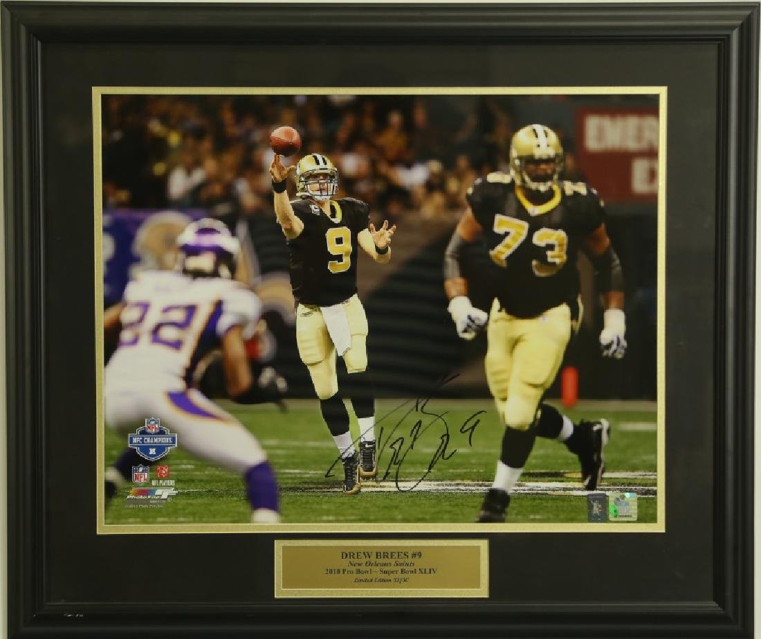 AUTOGRAPH DREW BREES #9 PHOTOGRAPH