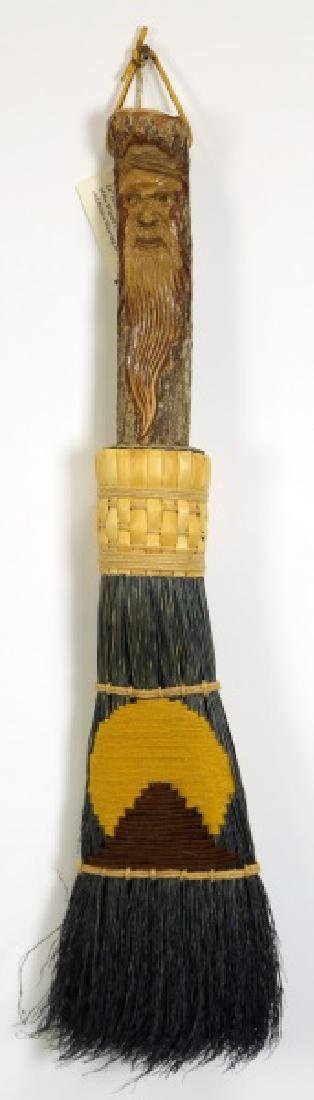 INDIAN WIZARD SPIRIT BROOM WITH FACE OF WIZARD