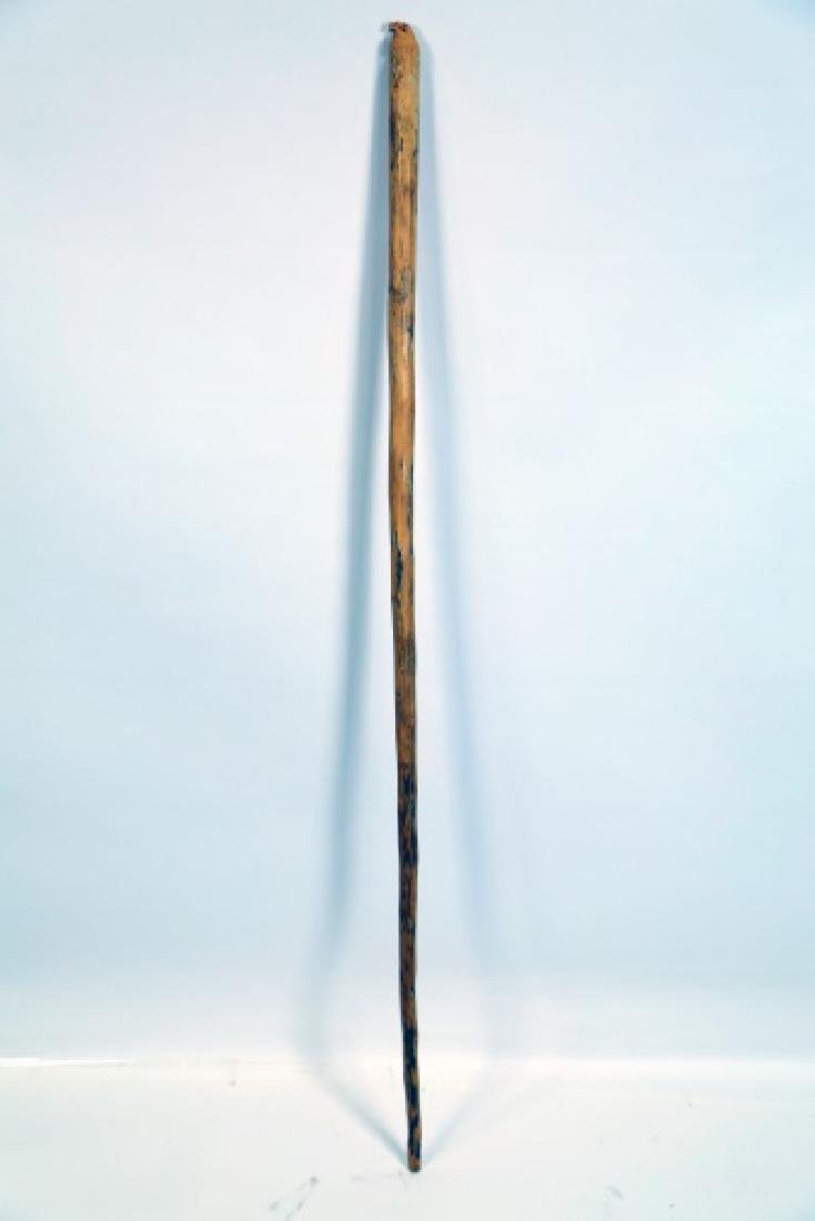 NATIVE AMERICAN WOODEN CARVED EAGLE CANE