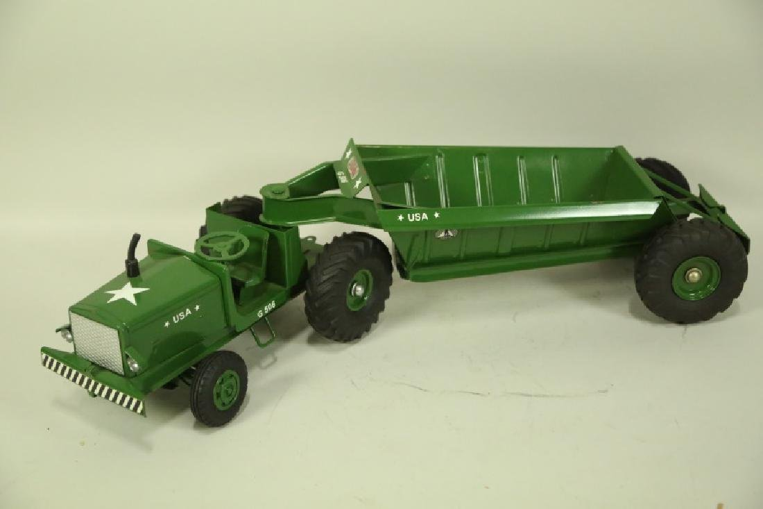 VINTAGE MODEL TOYS TRACTOR AND TRAILER