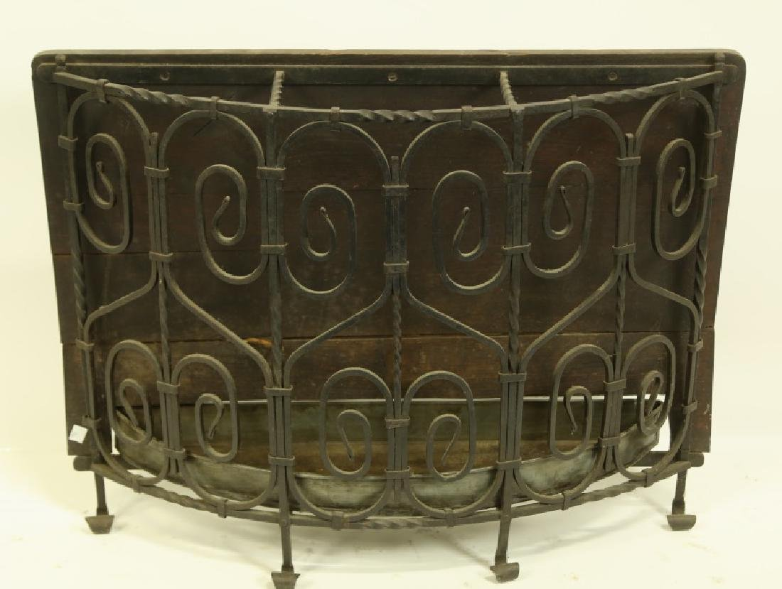 BLACK IRON UMBRELLA STAND