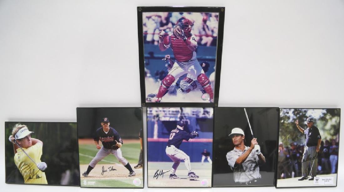 LOT OF SIX  AUTOGRAPHED PHOTOS