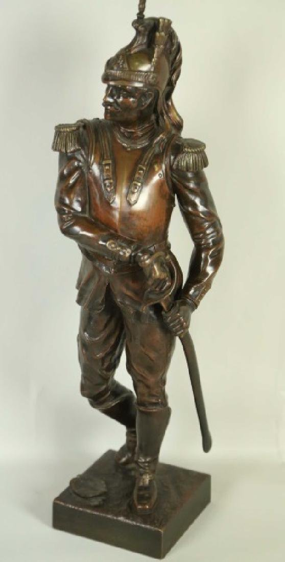 "FRENCH SOILDER ""SANS PEUR\"" (FEARLESS) BRONZE"