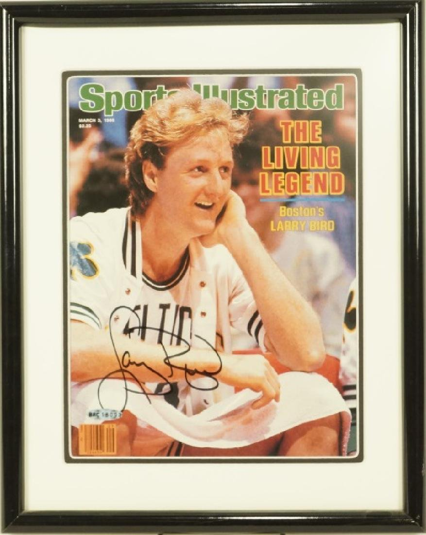 AUTOGRAPHED SPORTS ILLUSTRATED LARRY BIRD ISSUE - 2
