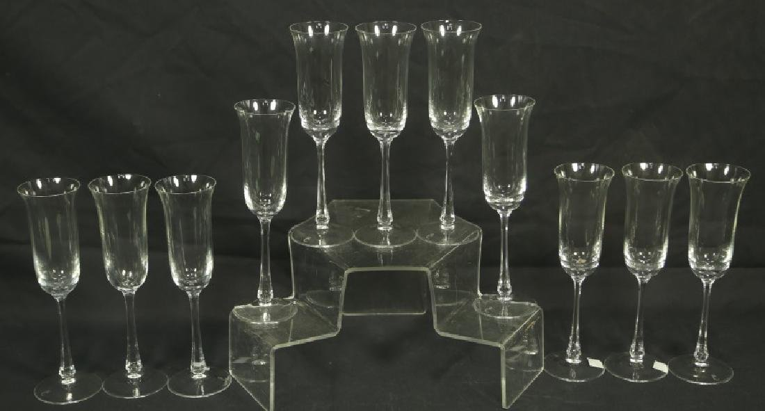 LOT OF ELEVEN ROYAL COPENHAGEN CHAMPAGNE FLUTES