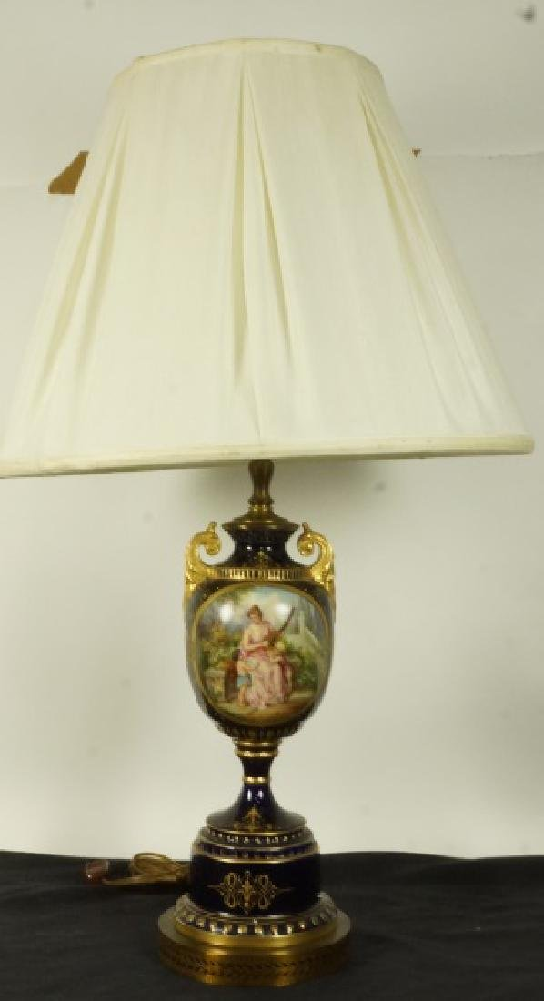 19th CENTURY SEVRES VASE NOW A LAMP